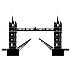 Vector illustration of Tower Bridge of London