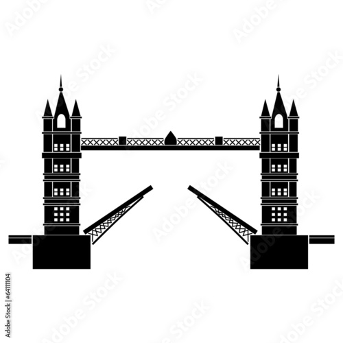 Vector illustration of Tower Bridge of London