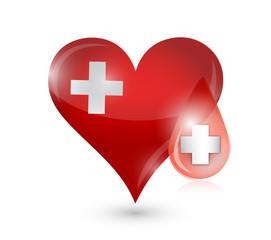 heart medical symbol illustration design