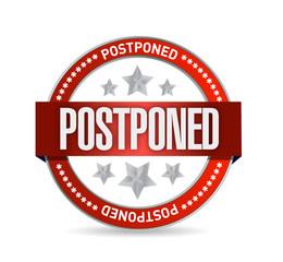 postpone red seal illustration design