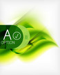 Green summer wave - business eco background