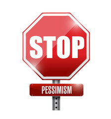 stop pessimism signpost illustration design