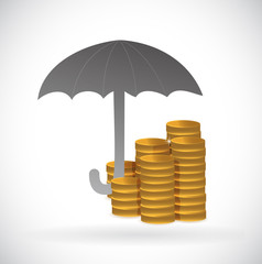 umbrella monetary protection illustration design