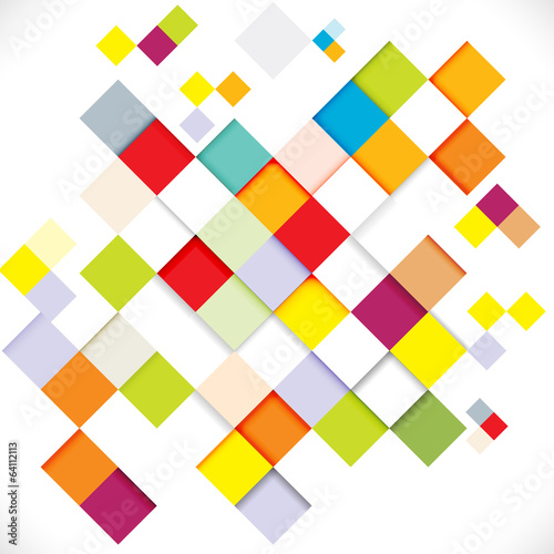 Abstract colorful modern geometric template, vector illustration