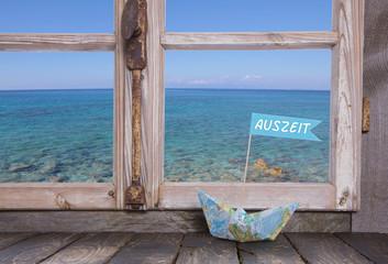 Traumurlaub am Meer - blauer Wasser Hintergrund