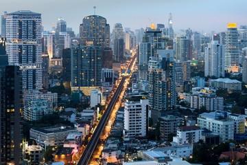 Bangkok city center at night