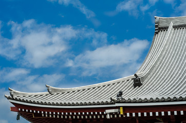 roof of japanese temple