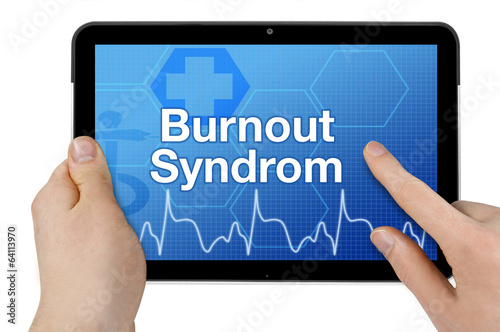 Tablet mit Interface und Burnout-Syndrom