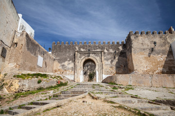 Ancient fortress in Madina. Old part of Tangier town, Morocco