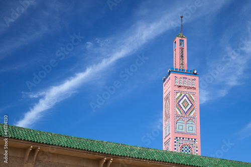 Mosque in Medina. Old part of Tangier town, Morocco