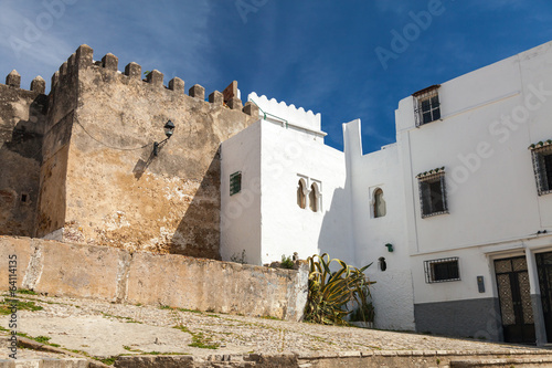 Ancient fortress and living houses. Madina, old part of Tangier