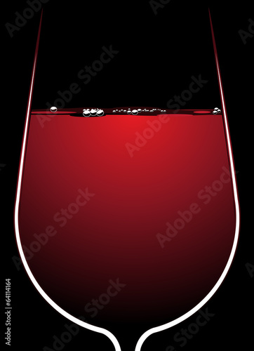 Glass of red wine with backlighting