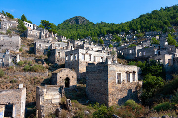 Abandoned empty houses, Kayakoy Town, Turkey