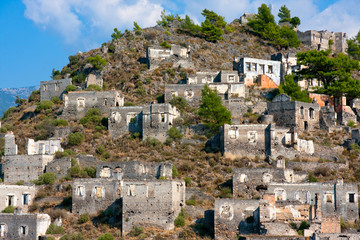 Abandoned Greek village of Kayakoy in Turkey