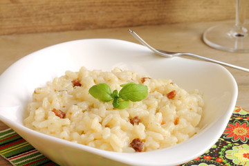 Risotto with mascarpone and prosciutto