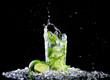 Ice mojito drink with splash