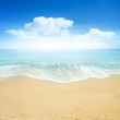 canvas print picture - Beautiful Summer Beach