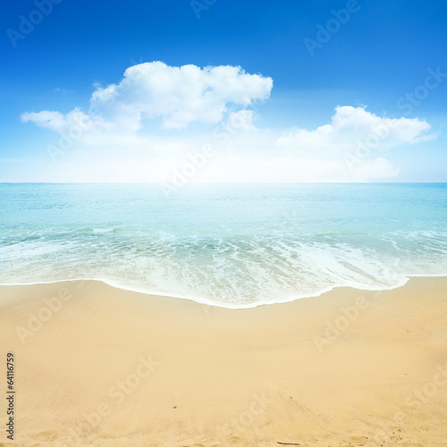 canvas print picture Beautiful Summer Beach