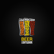 beer glass label design background