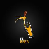 beer tap glass design background