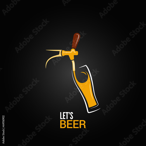 beer tap glass design background - 64116902
