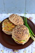 Wholegrain burgers with tofu