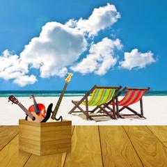 Play music at the beach