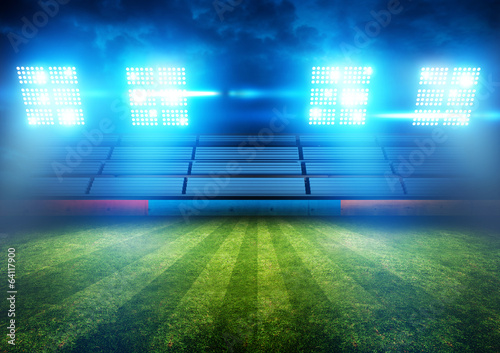 canvas print picture Football Stadium Lights