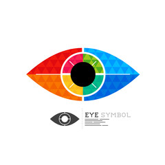 Diamond Eye Vector Symbol