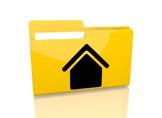 file folder with building symbol