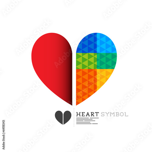 Bright heart symbol design