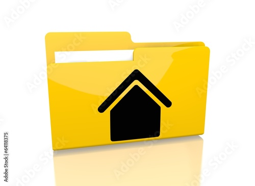 file folder with building symbol