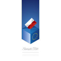 EU elections in Poland vector