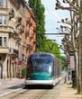Tram in Strasbourg, France - 64118985