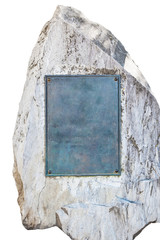Stone with empty plate