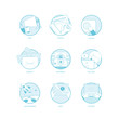 Set of Flat business icons for templates
