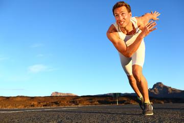 Sprinting man running