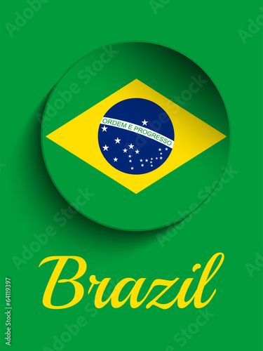 Brazil 2014 Letters with Brazilian Flag