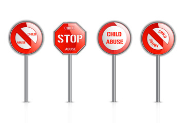 Illustration of child abuse warning signs