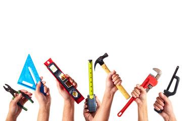Set of construction tools.