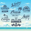 Collection of vintage summer labels, labels, badges and icons
