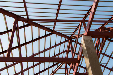 Roof steel in new house