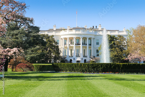 Fotobehang Historisch mon. The White House, South Facade, Washington DC