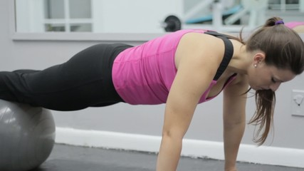 Woman doing abs workout