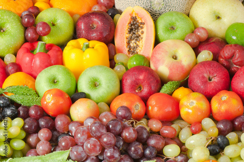 Mixed Tropical Fruits and vegetabless