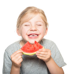 child eating watermelon-2