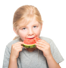Child eating watermelon 3