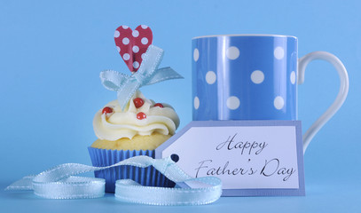 Happy Fathers Day cupcake with coffee mug