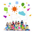 Multiethnic Children with Different Activities