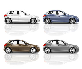 Collection of 3D Hatchback Cars